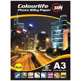 SUN Colourlife Photo Paper Silky  265 Gsm Real A3 - Kertas Foto / Photo Paper