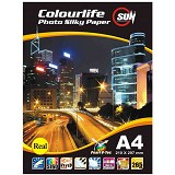 SUN Colourlife Photo Paper Silky 265 Gsm Real A4 - Kertas Foto / Photo Paper