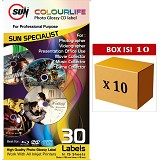 SUN Kertas Colourlife Photo Glossy CD Label 10pcs - Kertas Foto / Photo Paper