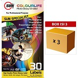 SUN Kertas Colourlife Photo Glossy CD Label 3pcs