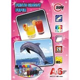 SUN Kertas Photo Glossy Paper 185 Gsm A6 - Kertas Foto / Photo Paper