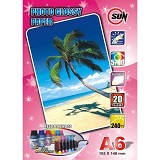 SUN Kertas Photo Glossy Paper 240 Gsm A6 - Kertas Foto / Photo Paper