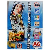 SUN Premium Photo Paper Glossy 265 Gsm A6 - Kertas Foto / Photo Paper