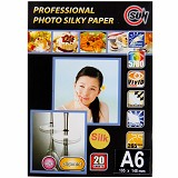 SUN Professional Photo Paper Silky  265 Gsm Silk A6 - Kertas Foto / Photo Paper