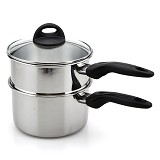 SUPRA Stainless Steel Double Boiler 18cm [SSSSDB18] - Panci