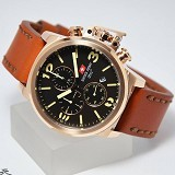 SWISS ARMY Jam Tangan Pria [SA2199] - Brown Rose Gold - Jam Tangan Pria Fashion