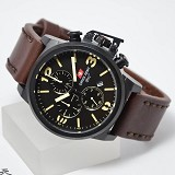 SWISS ARMY Jam Tangan Pria [SA2199] - Dark Brown Black - Jam Tangan Pria Fashion