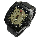SWISS ARMY Jam Tangan Pria Skull Super - Black Gray (Merchant) - Jam Tangan Pria Fashion
