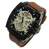 SWISS ARMY Jam Tangan Pria Skull Super - Brown White (Merchant) - Jam Tangan Pria Fashion