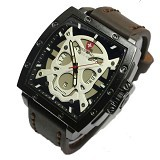 SWISS ARMY Jam Tangan Pria Skull Super - Dark Brown White (Merchant) - Jam Tangan Pria Fashion