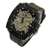 SWISS ARMY Jam Tangan Pria Skull Super - Drak Brown Gray (Merchant) - Jam Tangan Pria Fashion