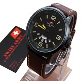 SWISS ARMY SA-1128 - Brown - Jam Tangan Pria Casual