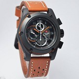 SWISS ARMY Watch [SA2205] - Brown/Black - Jam Tangan Pria Casual