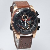 SWISS ARMY Watch [SA2205] - Dark Brown/Rose Gold - Jam Tangan Pria Casual