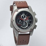 SWISS ARMY Watch [SA2205] - Dark Brown/Silver - Jam Tangan Pria Casual