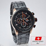 SWISS ARMY Watch [SA2212] - Black/Rose Gold - Jam Tangan Pria Casual