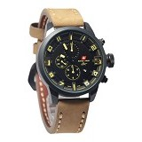 SWISS ARMY Watch [SA8775] - Cream/Black - Jam Tangan Pria Casual