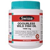 SWISSE Ultiboost Odourless Wild Fish Oil 1000mg - Suplement Tekanan Darah