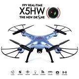 SYMA Drone X5HW + Wifi FPV Kamera HD 2MP with Altitude Hold Function - Blue (Merchant) - Drone