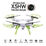 SYMA Drone X5HW + Wifi FPV Kamera HD 2MP with Altitude Hold Function - White (Merchant) - Drone