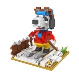 LOZ Gift Large 9525 Skiing Snoopy [305002281]