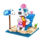 LOZ Gift Large 9527 Swimming Snoopy [305002283] - Building Set Movie