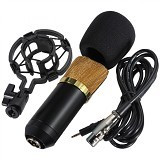TAFFWARE Professional Condenser Microphone with Mount [BM700] (Merchant) - Camera and Video Microphone