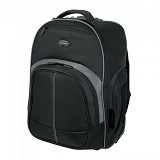 "TARGUS 16"" Compact Rolling Backpack [TSB750AP-52] - Black Grey - Notebook Rolling Case"