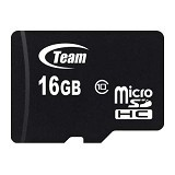 TEAM Memory Card Micro SD Class 10 16GB - Black (Merchant) - Micro Secure Digital / Micro Sd Card