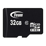 TEAM Memory Card Micro SD Class 10 32GB - Black (Merchant) - Micro Secure Digital / Micro Sd Card