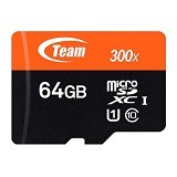 TEAM Memory Card Micro SD UHS-1 64GB - Orange/Black(Merchant) - Micro Secure Digital / Micro Sd Card