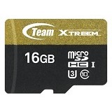 TEAM Memory Card Micro SD Xtreem U3 16GB - Gold/Black (Merchant) - Micro Secure Digital / Micro Sd Card