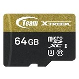 TEAM Memory Card Micro SD Xtreem U3 64GB - Gold/Black (Merchant) - Micro Secure Digital / Micro Sd Card