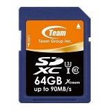TEAM Memory Card SD Card Xtreem U3 64GB - Blue (Merchant) - Secure Digital / Sd Card