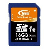 TEAM Memory Card SD Card Xtreem UHS-1 16GB - Blue (Merchant) - Secure Digital / Sd Card
