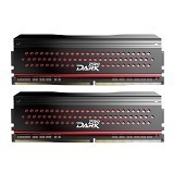 TEAM Memory PC Dark Pro Black and Red Heatspreader 2x4GB DDR4 PC4-27000 [TDPRD48G3333HC16ADC01] - Memory Desktop Ddr4