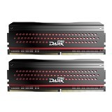 TEAM Memory PC Dark Pro Black and Red Heatspreader 2x8GB DDR4 PC4-27000 [TDPRD416G3333HC16ADC01] - Memory Desktop Ddr4