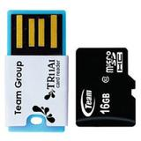 TEAM Micro SDHC 16GB - Class 10 + USB Reader - Micro Secure Digital / Micro SD Card