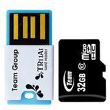 TEAM Micro SDHC 32GB - Class 10 + USB Reader - Micro Secure Digital / Micro SD Card