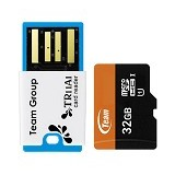 TEAM Micro SDHC 32GB - Class 10 + USB Reader - Micro Secure Digital / Micro SD Card