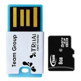 TEAM Micro SDHC 8GB - Class 10 + USB Reader - Micro Secure Digital / Micro SD Card