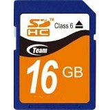 TEAM SDHC 16GB - Class 6 - Secure Digital / SD Card