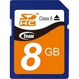 TEAM SDHC 8GB - Class 6 - Secure Digital / SD Card