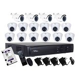 TELVIEW AHD Camera Package 16 Channel [FT161] - Cctv Camera