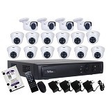 TELVIEW AHD Camera Package 16-Channel (Merchant) - Cctv Camera
