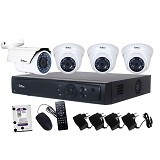 TELVIEW AHD Camera Package 4 Channel [FT401] - Cctv Camera