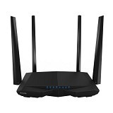 TENDA Smart Dual-band Wireless Router 1200Mbps [AC6 ] - Black (Merchant) - Router Consumer Wireless