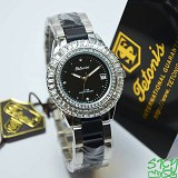 TETONIS T889 Black Lady Cramic - Black - Jam Tangan Wanita Fashion