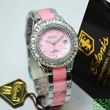 TETONIS T889 Pink Lady Cramic - Pink - Jam Tangan Wanita Fashion