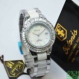 TETONIS T889 White Lady Cramic - White - Jam Tangan Wanita Fashion